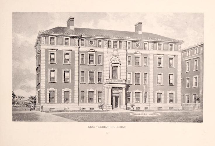 Old Engineering Building ca. 1897 (p. 33 Columbia University, 1897. https://archive.org/stream/columbiauniversi00colu_0#page/33/mode/1up)